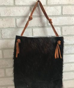 Dark Brown Real Cowhide HandBag