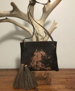 Black & Brown Real Cowhide Handbag