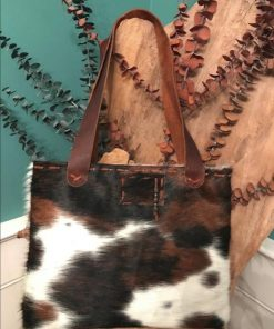 Tricolor Genuine Cowhide Hand Bag