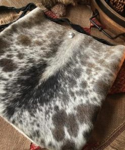 Grey Real Cowhide Hand Bag