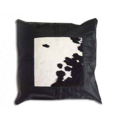 Genuine Cowhide Patchwork Pillow Cover 16x16
