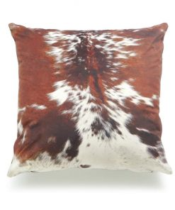 Tricolor Real Cowhide Cushion Cover 16x16