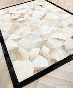 Real Cowhide Patchwork Rug