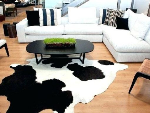 Black White Real Cowhide Rug