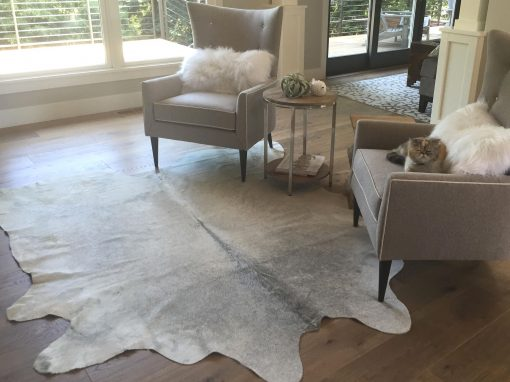 Real Grey Cowhide Rug
