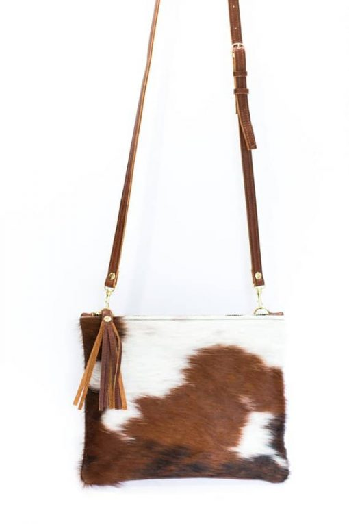 Tricolor Real Cowhide Hand Bag
