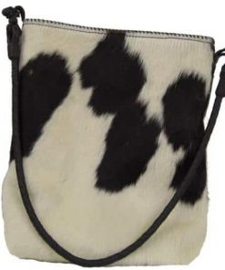 Black And White Genuine Cowhide Handbag