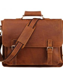 Daily Leather Messenger Bag