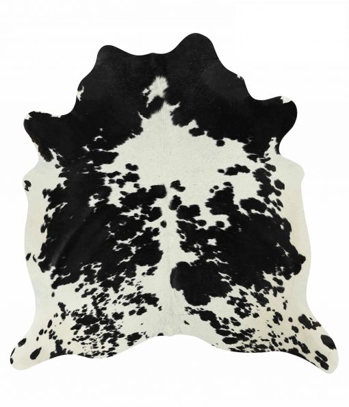 Black White Salt & Pepper Cowhide Rug