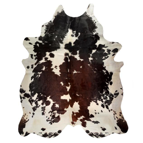 Natural Tricolor Genuine Cowhide Rug