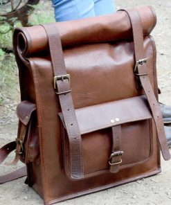 Hiking Leather Backpack