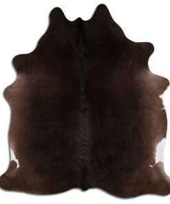 Natural Full Dark Brown Real Cowhide Rugs